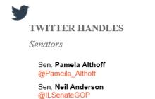 Illinois Senator Twitter Handles