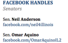 Illinois Senators Facebook Handles