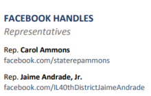 Illinois Representatives Facebook Handles